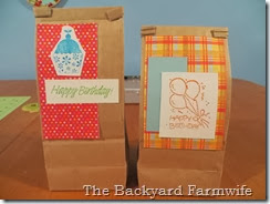 tea bag gift bag - The Backyard Farmwife