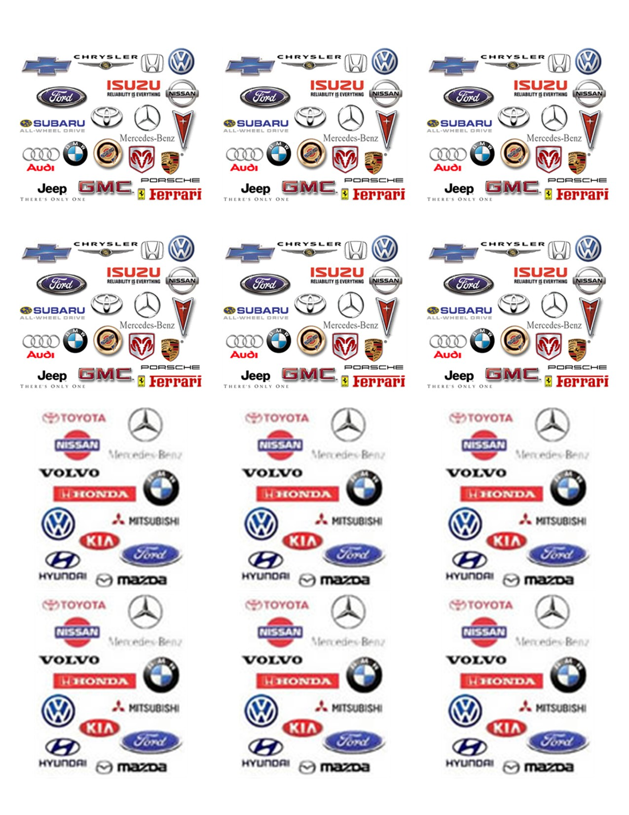 Car Brand Names Pictures