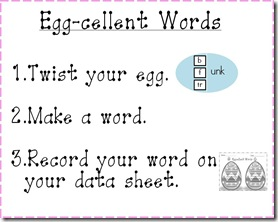 Eggcellent Words symbol chart