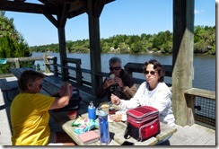 Lunch on the bike trail with Dan and Tricia