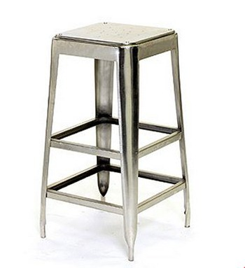 p asp metal stool and wood bar industrial brixton