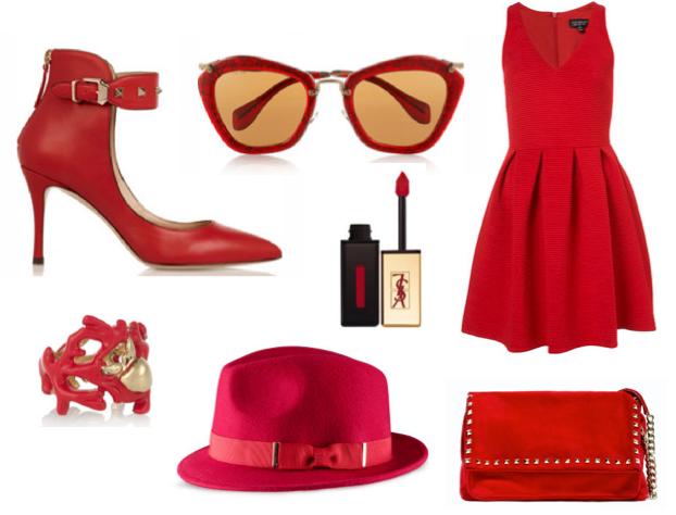 Robe rouge h m