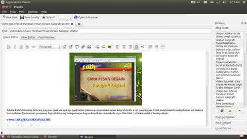 visual editor blogilo