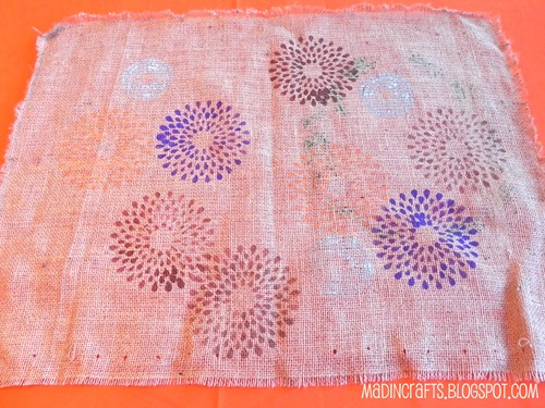 fall mums burlap table runner