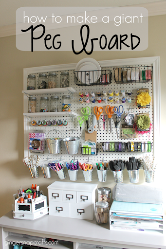 how to make a giant peg board at craft - Peg Boards