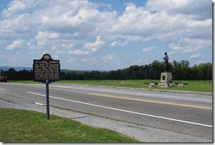 Gettysburg Campaign about First Day of Battle, Buford Statue across the road.