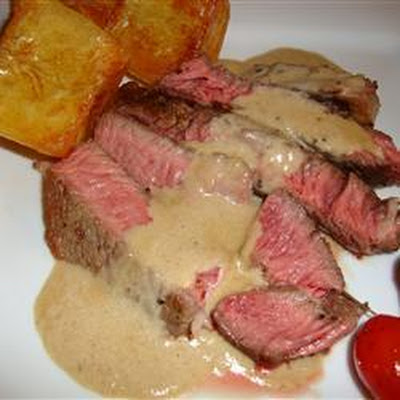 Brandied Peppercorn Steak