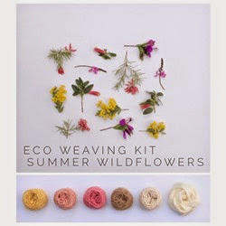 Plant dyed yarns and their natural inspiration for Eco Weaving Kit by Alchemy - Summer Wildflowers pack