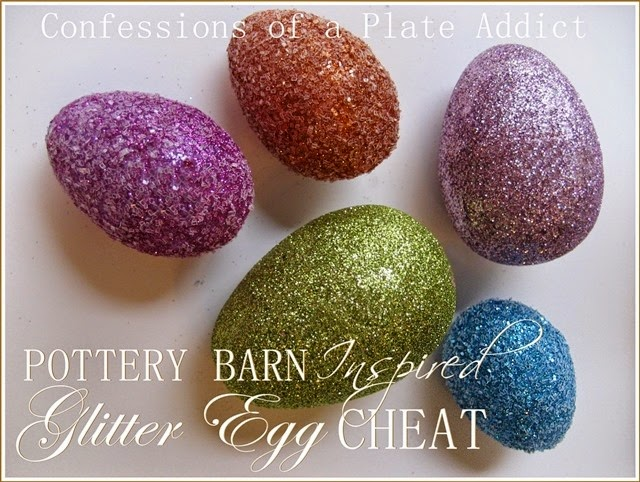 CONFESSIONS OF A PLATE ADDICT Pottery Barn Inspired Glitter Eggs