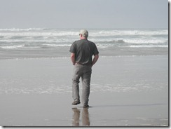 Mike on the beach in Florence OR
