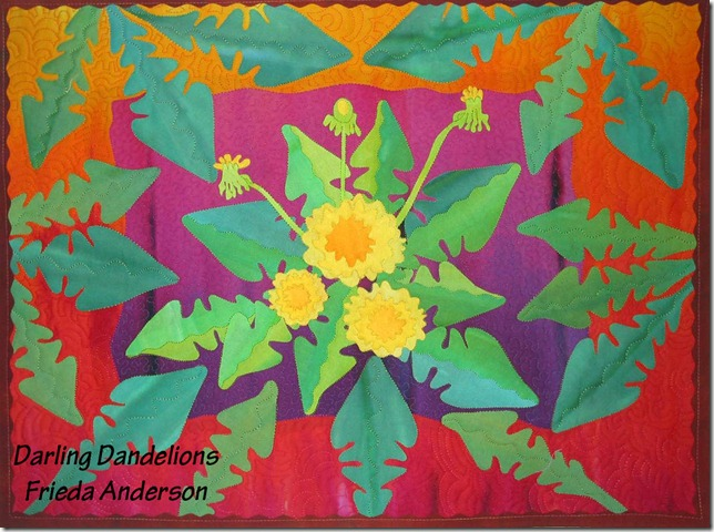 New Dandelion for upcoming Book Fun Fast Fusing with Frieda