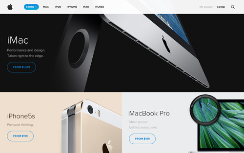 Unofficial redesign apple store