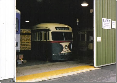 Chicago Surface Lines PCC Streetcar #4021 at the Illinois Railway Museum on May 23, 2004