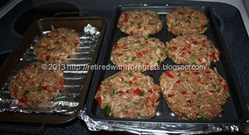 Revved Up Italian Sausage Burgers - ready to cook
