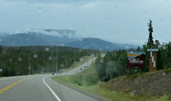 Here we are and raining in Whitehorse