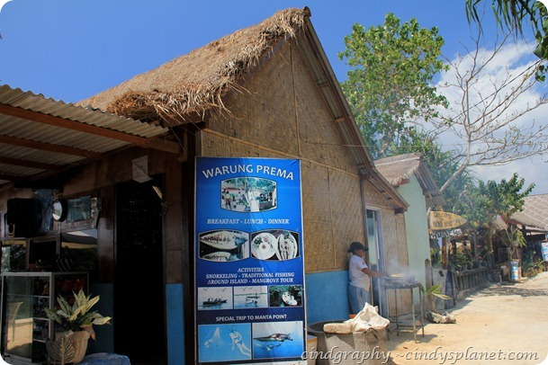 Warung Prema at Nusa Lembongan