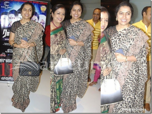 Suhasini_Animal_Print_Saree