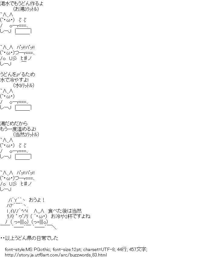 [AA]うどん県の日常 (2012年流行語)