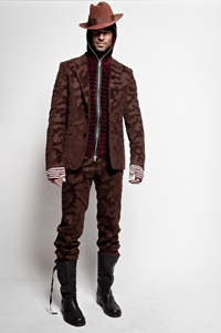 Rainer Torrado for Jean Paul Gaultier Monsieur, F/W 2012.
