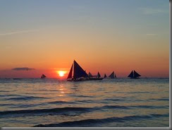 sailboats in the sunset phillippines