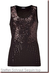 Steffen Schraut Black Sequin Beaded Top