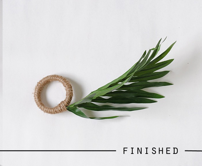 zara home knockoff leaf napkin rings finished2