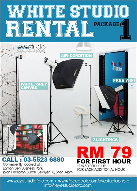 white studio rental
