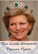 The Greek Emerald Parure Tiara