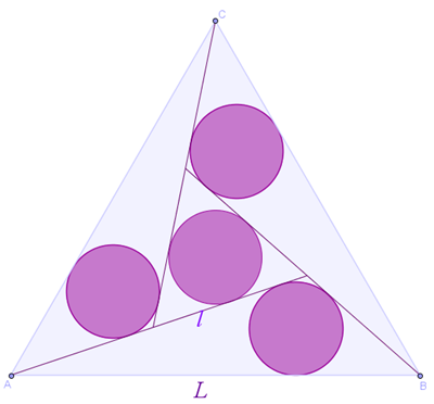 tr.equilatero e 4 cerchi