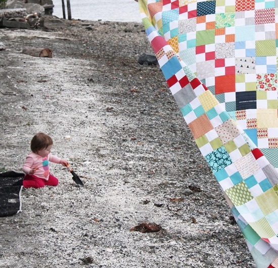 Scrappy Summer Quilt and Baby