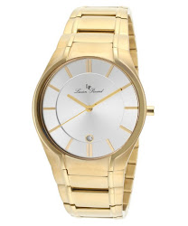 Lucien Piccard Men's Davos Silver Dial Gold Tone Ion Plated Stainless Steel LP-10607-YG-22S Watch