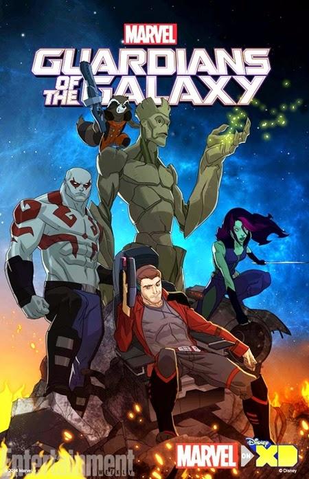 Póster oficial de  la serie animada Los Guardianes de la Galaxia