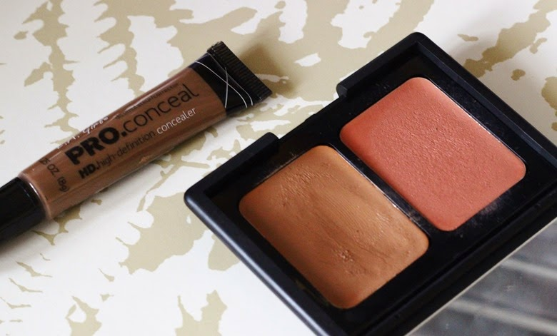 e.l.f cream contour and blush kit LA GIRLS HD Concealer