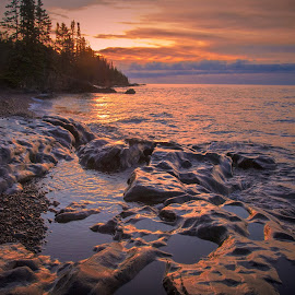 Another North Shore Morning by Gary Hanson - Landscapes Waterscapes ( cascade, north shore, sunrise, morning, golden )