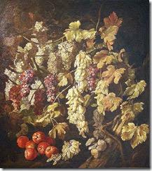 Sala IX-10-Bodegón con uvas y manzanas- Giambattista Ruoppolo, 1670- Col. Glez Abreu