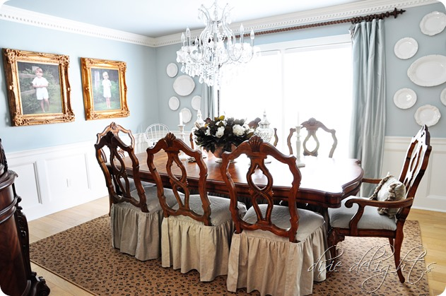 Leopard Rug in Dining Room