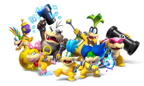 The Koopalings from New Super Mario Bros U