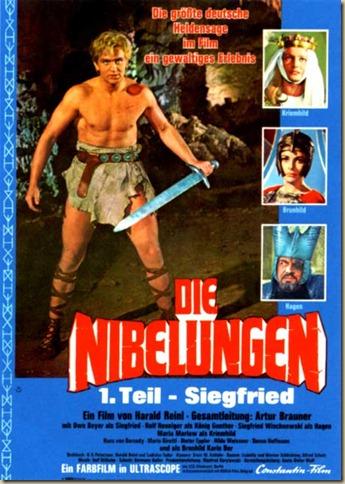 Fime alemão contando a histório do herói, de 1966 Worms