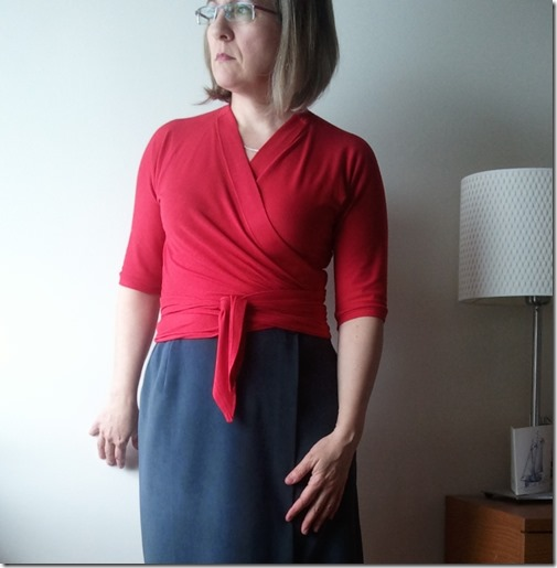 Pavlova Wrap Top with Talbots wrap skirt copy