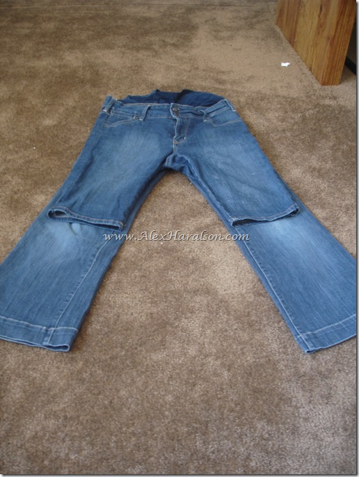 High Water Jeans to shorts with original hem6