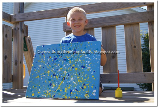 finished Jackson Pollock for kids