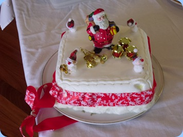 Peter Littlejohn also made a Christmas Cake for the Party as well!