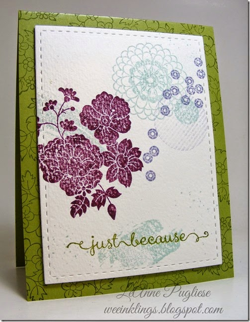 LeAnne Pugliese WeeInklings ColourQ255 Hello Darling Stampin Up