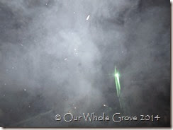 smoke, snow and magic light