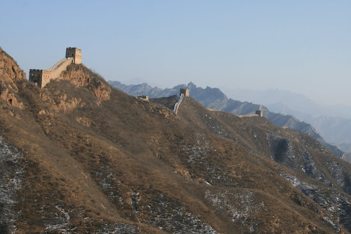 The Great Wall; suitably discouraging for potential invaders!
