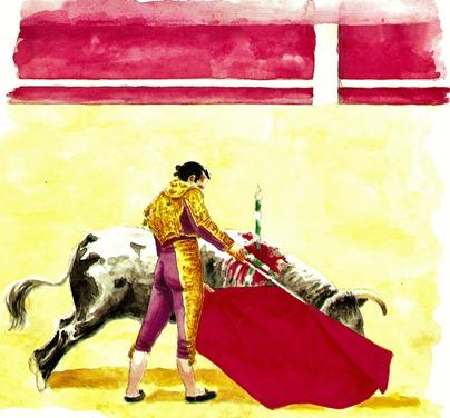 Antoñete acuarela Jose Morente 001