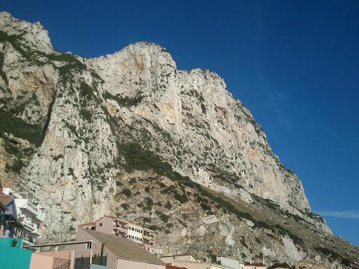 The Rock - Østsiden av Gibraltar - i nærheten av spillestedet Caleta Hotel.