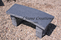 Rockface Curved Bench, Charcoal Grey