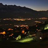 night view in Vaduz, Vaduz, Liechtenstein