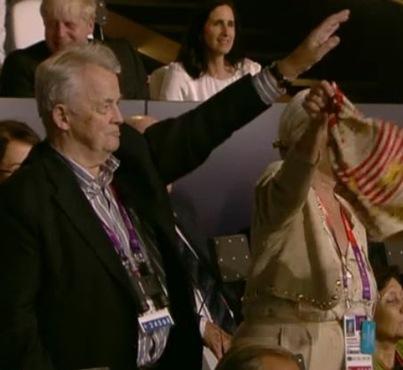 Nazi salute at 2012 Olympics opening